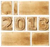 2013 di legno Fotografia Stock