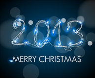 2013 from digital electronic blue lights Royalty Free Stock Photo
