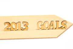 2013 doelstellingen Stock Fotografie