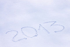 2013  drawn on a snow Stock Photo