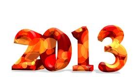 2013 em 3d Imagens de Stock Royalty Free