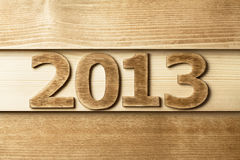 2013 en bois Photos stock