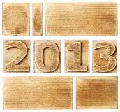 2013 en bois Photo stock