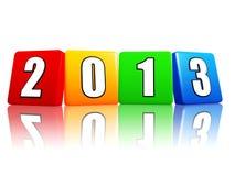 An 2013 en cubes en couleur Image libre de droits
