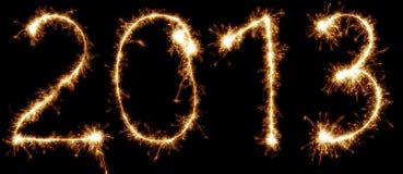 2013 escrito com sparkles Fotografia de Stock