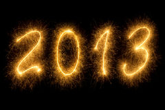 2013 escrito em letras sparkling Imagens de Stock