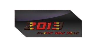 2013 färgrika lyckliga nya år stock illustrationer