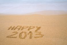 2013 feliz. Foto de Stock Royalty Free