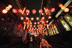 2013 festival di lanterna cinesi a Chengdu Fotografie Stock Libere da Diritti