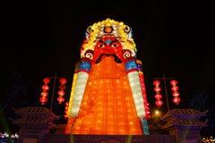 2013 festival e templi di lanterna cinesi dell'nuovo anno giusti Fotografia Stock Libera da Diritti