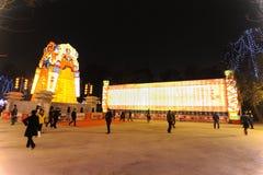 2013 festival e templi di lanterna cinesi dell'nuovo anno giusti Immagine Stock Libera da Diritti