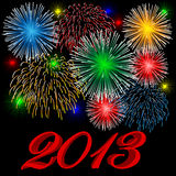 2013 fireworks. Background calendar celebration Royalty Free Stock Images