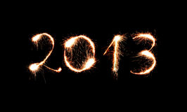 2013 fizeram dos sparkles Fotos de Stock