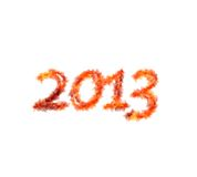 2013 flame. Royalty Free Stock Image