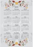 2013 floral calendar Stock Photo