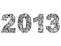 2013 floral design. The floral design of new year 2013 Stock Images