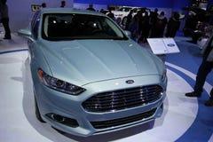 2013 Ford Fusion SE. 111-th Chicago auto show stock photos