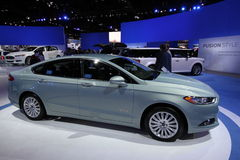 2013 Ford Fusion SE. 111-th Chicago auto show stock photography