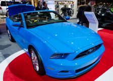 2013 Ford Mustang. TORONTO-FEBRUARY 15: Exhibition of the 2013 Ford Mustang  during  the Canadian International Auto Show 2013. The show is arriving to 40 years Royalty Free Stock Photo