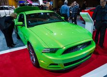 2013 Ford Mustang GT. TORONTO-FEBRUARY 15: Exhibition of the 2013 Ford Mustang GT  during  the Canadian International Auto Show 2013. The show is arriving to 40 Stock Image