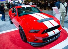 2013 Ford Mustang Shelby GT500. TORONTO-FEBRUARY 15: Exhibition of the 2013 Ford Mustang Shelby GT500  during  the Canadian International Auto Show 2013. The Royalty Free Stock Photo