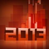 2013 Gelukkige de groetkaart van het Nieuwjaar. Stock Foto's
