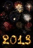 2013 gemaakt van vonken Stock Afbeelding