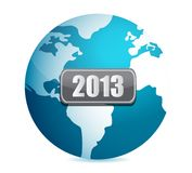 2013 globe illustration design Stock Photo