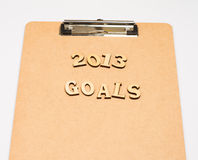 2013 goals Stock Image
