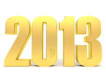 2013 in gold Royalty Free Stock Images