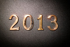 2013 gold text Royalty Free Stock Images