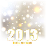 2013 Greeting Card. With shiny stars and snowflakes stock illustration