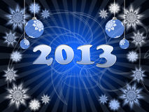 2013 greeting card. Happy New Year 2013 greeting card Royalty Free Stock Photo