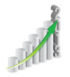 2013 growth bar graph. Illustration design over white royalty free illustration