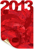 2013 grunge. Graphic illustration of a grunge background Royalty Free Stock Photo
