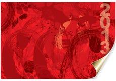 2013 grunge. Graphic illustration of a grunge background Stock Images
