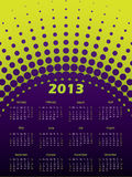 2013 halftone calendar. In purple and green royalty free illustration