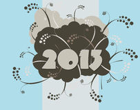 2013 - Happy New Year. Card in urban style Stock Images