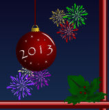 2013 Happy New Year. Merry Christmas and a Happy New Year 2013 Stock Photography