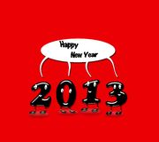 2013, Happy new year. Illustration with 2013 Happy new year with a red background royalty free illustration