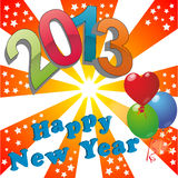 2013 happy new year. Illustration of 2013 happy new year Royalty Free Stock Photo