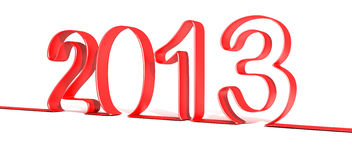 2013 Happy New Year. Render Royalty Free Stock Photos