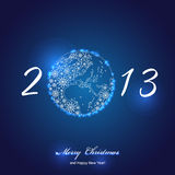 2013 happy new year. Celebration background for your posters stock illustration