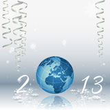 2013 happy new year. Celebration background for your posters royalty free illustration