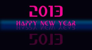 2013 happy new year. 2013 blue and pink text on black surface Stock Image