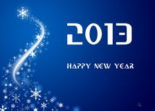 2013 happy new year. Happy New Year 2013 with snowflakes Stock Photography