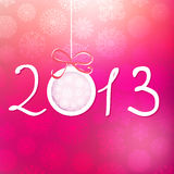 2013 Happy New Year background. + EPS8. Vector file Royalty Free Stock Photos