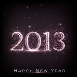 2013 Happy New Year greeting card. Royalty Free Stock Photography