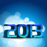 2013 Happy New Year greeting card. Stock Photos