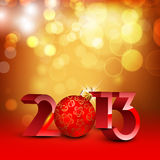 2013 Happy New Year greeting card. Stock Photo